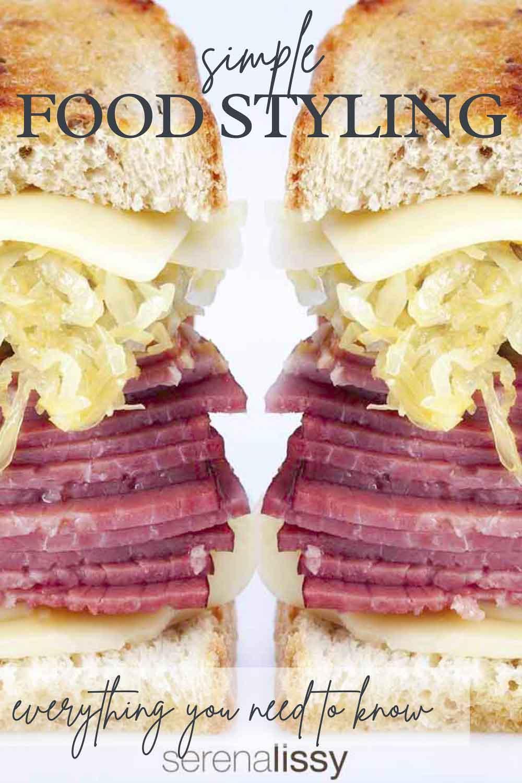 Pastrami Sandwich On Plate