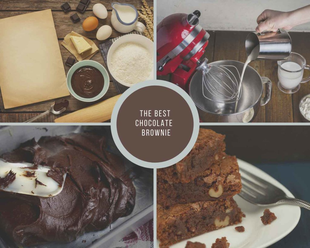 Process Collage For Making Brownies