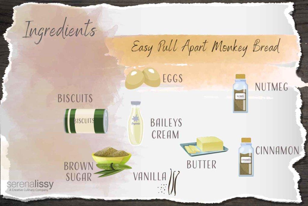 Ingredients for Sweet Italian Biscotti Monkey Bread