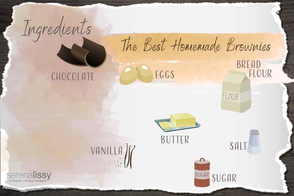 The Best Homemade Brownies Ingredients