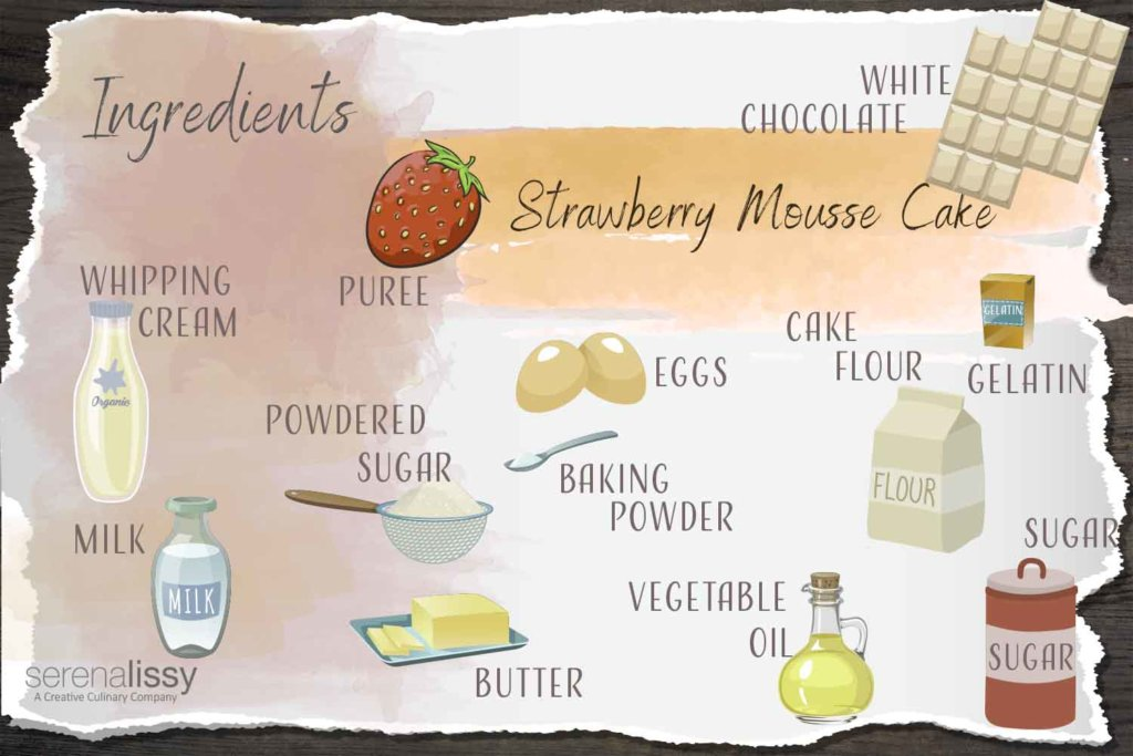 Strawberry Mousse Cake Ingredients