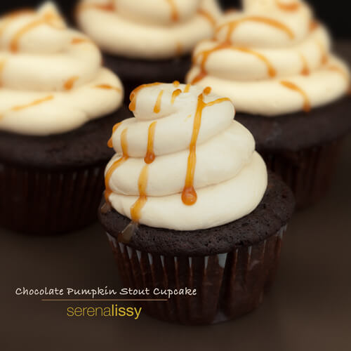 Chocolate Pumpkin Stout Cupcakes