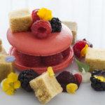 Mascarpone Cream Macaron on Plate
