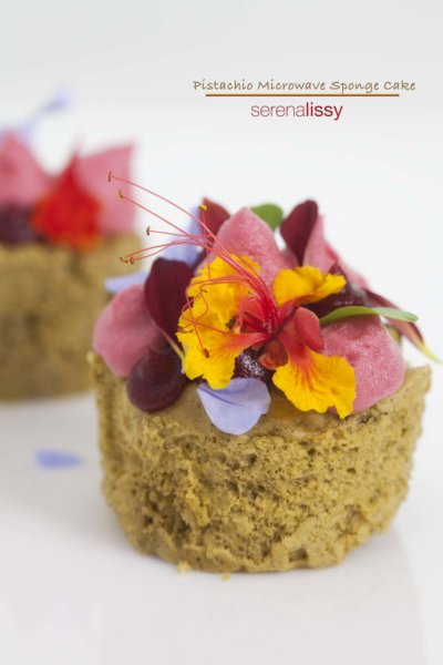 Pistachio Microwave Sponge Cake