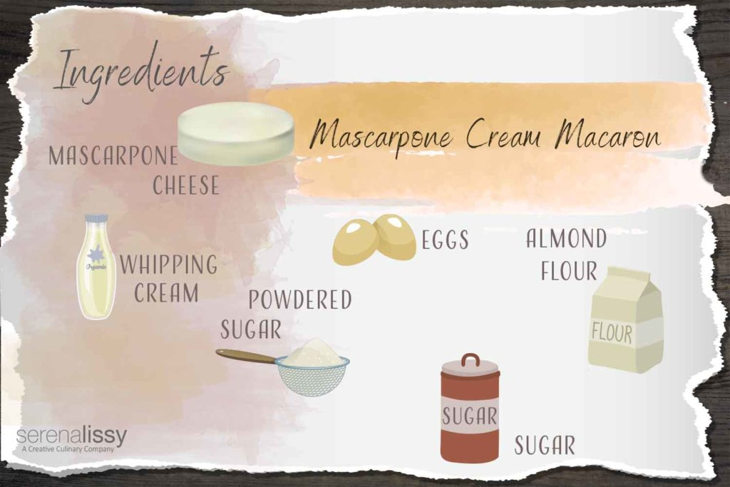 Mascarpone cream Macaron Ingredients