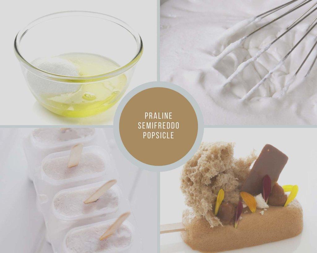 Praline Semifreddo Popsicle Process Collage