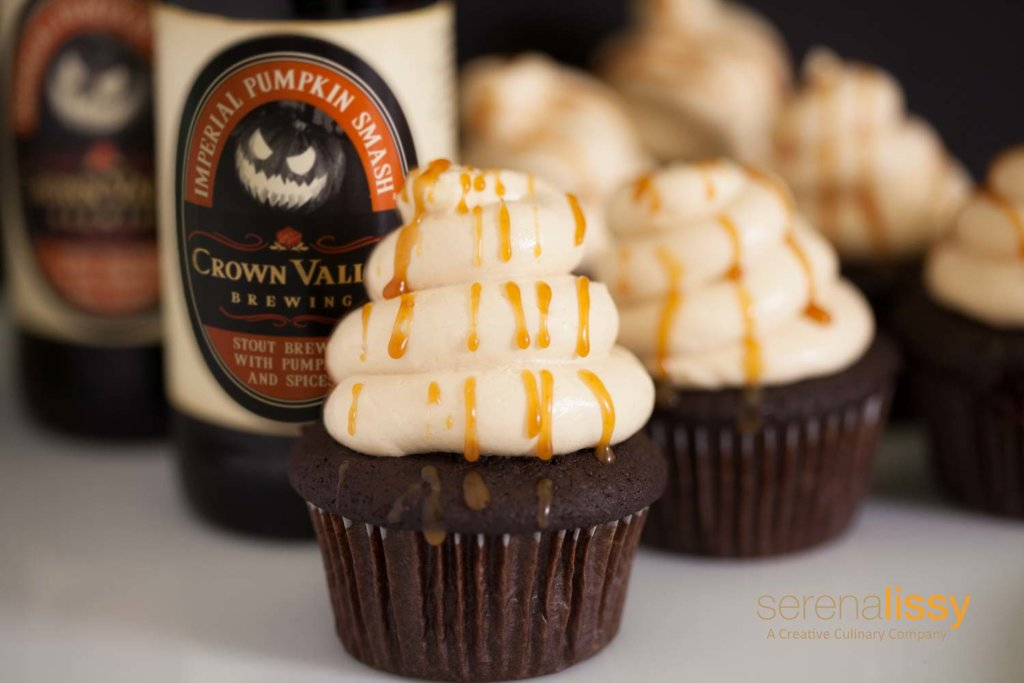 Pumpkin Stout Chocolate Cupcake