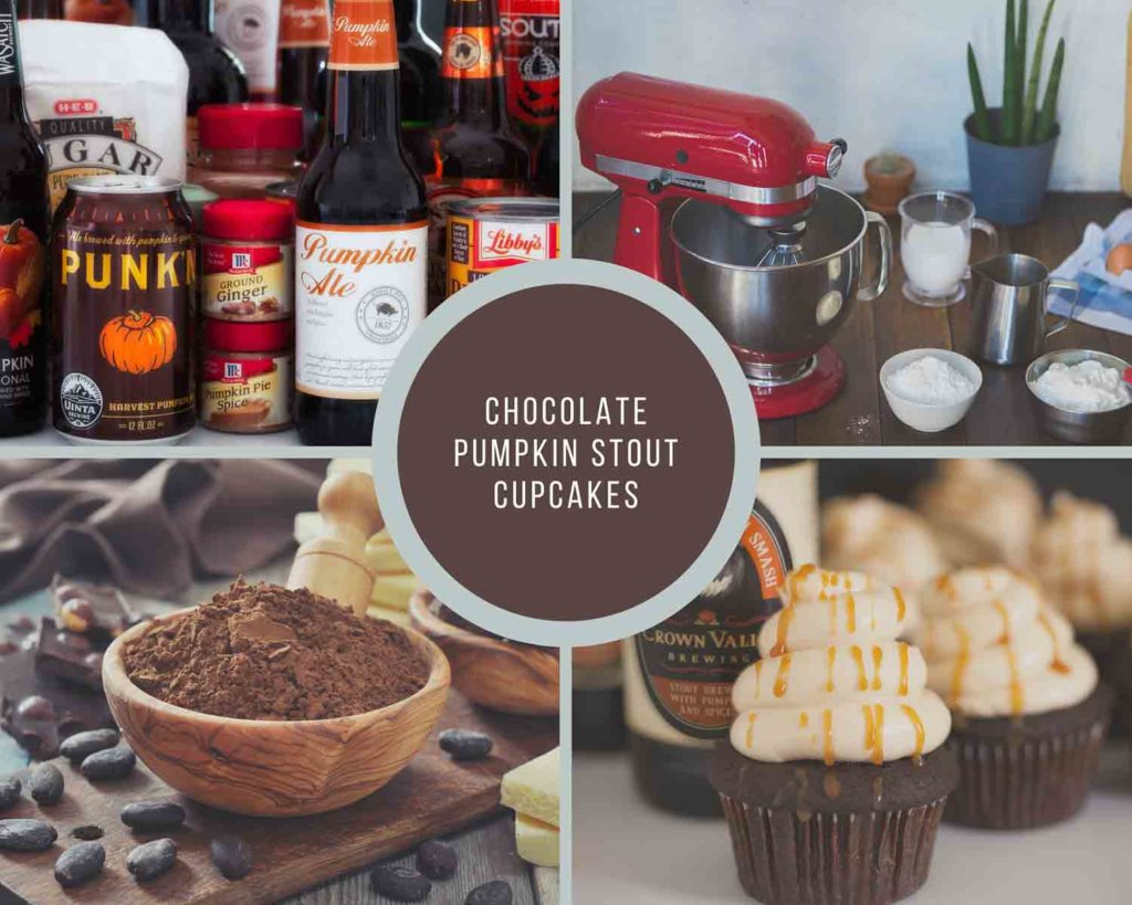 Baking Process For Pumpkin Stout Cupcakes