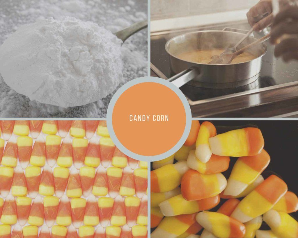 Candy Corn Process Collage