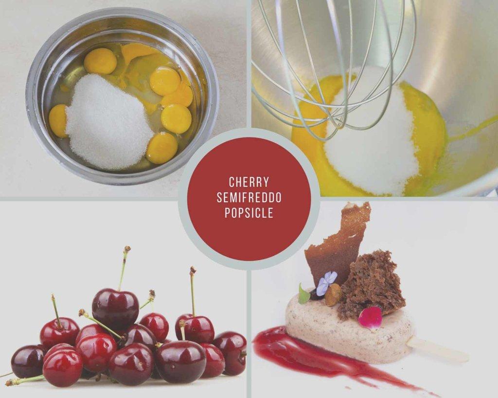 Cherry Semifreddo Process Collage