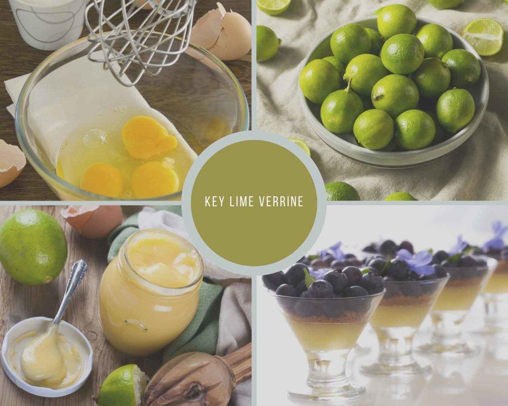 Key Lime Verrine Process Collage