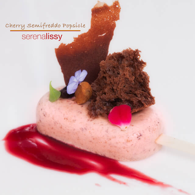 Nailed It! Cherry Semifreddo Popsicle