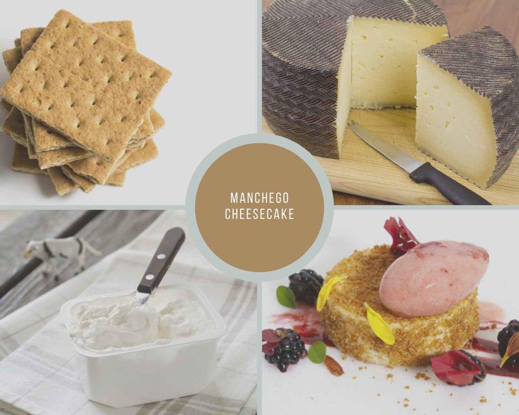 Manchego Cheesecake Process