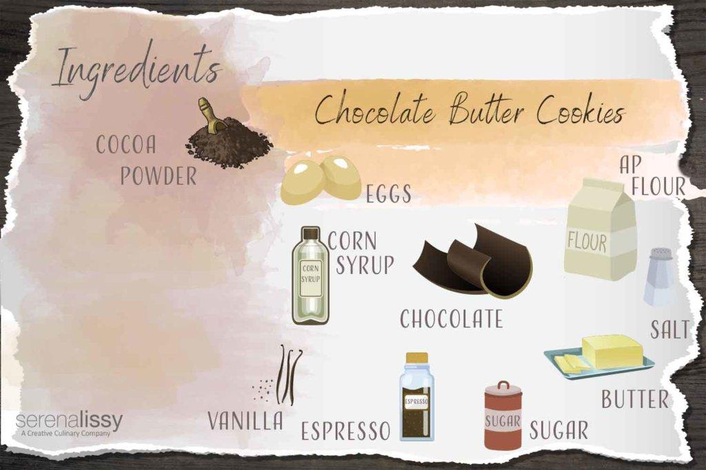 Chocolate Butter Cookies Ingredients