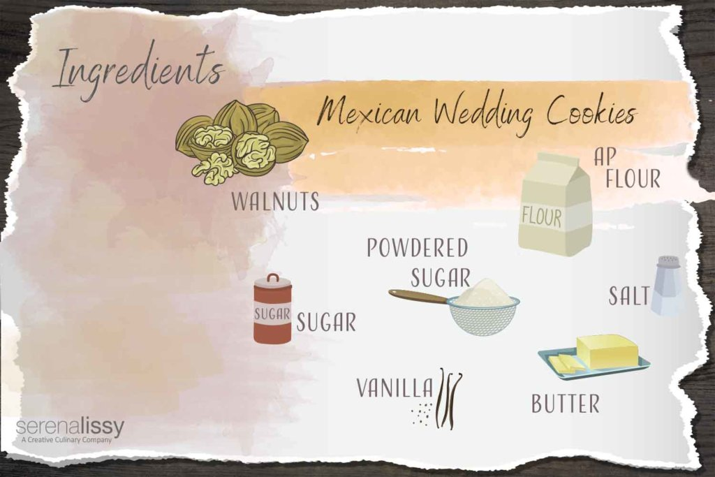 Mexican Wedding Cookies Ingredients