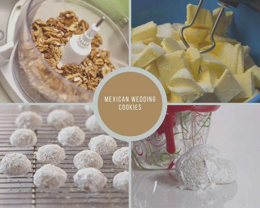 Mexican Wedding Cookies Process Collage