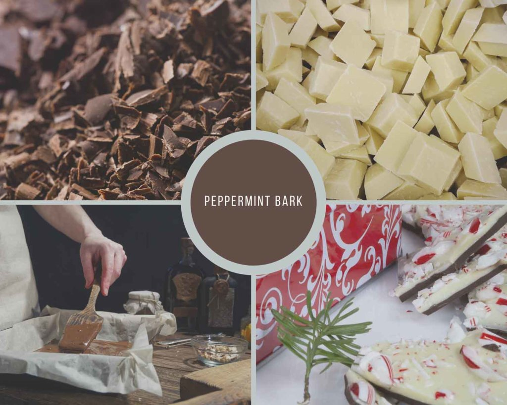 Peppermint Bark Process Collage