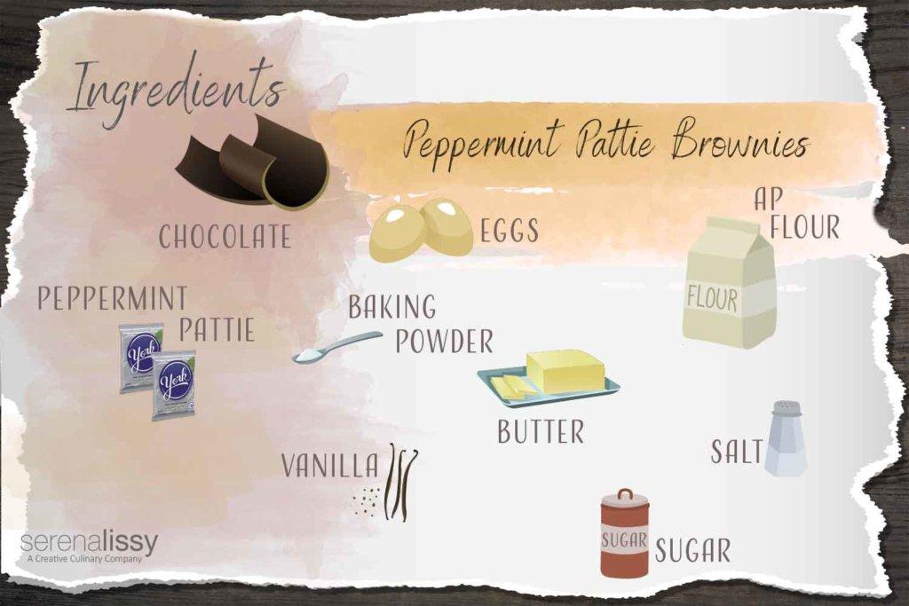 Peppermint Pattie Brownies Ingredients
