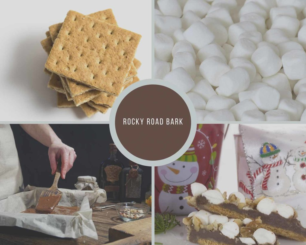 Rocky Road Bark Process Collage