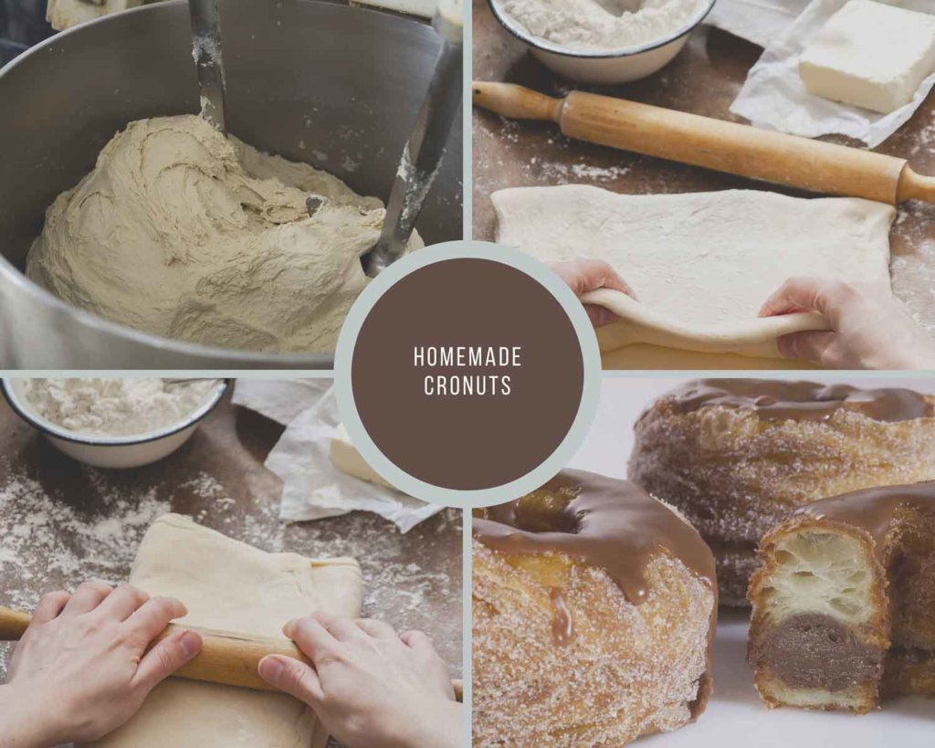 Homemade Cronuts Process Collage How to Make a Cronut