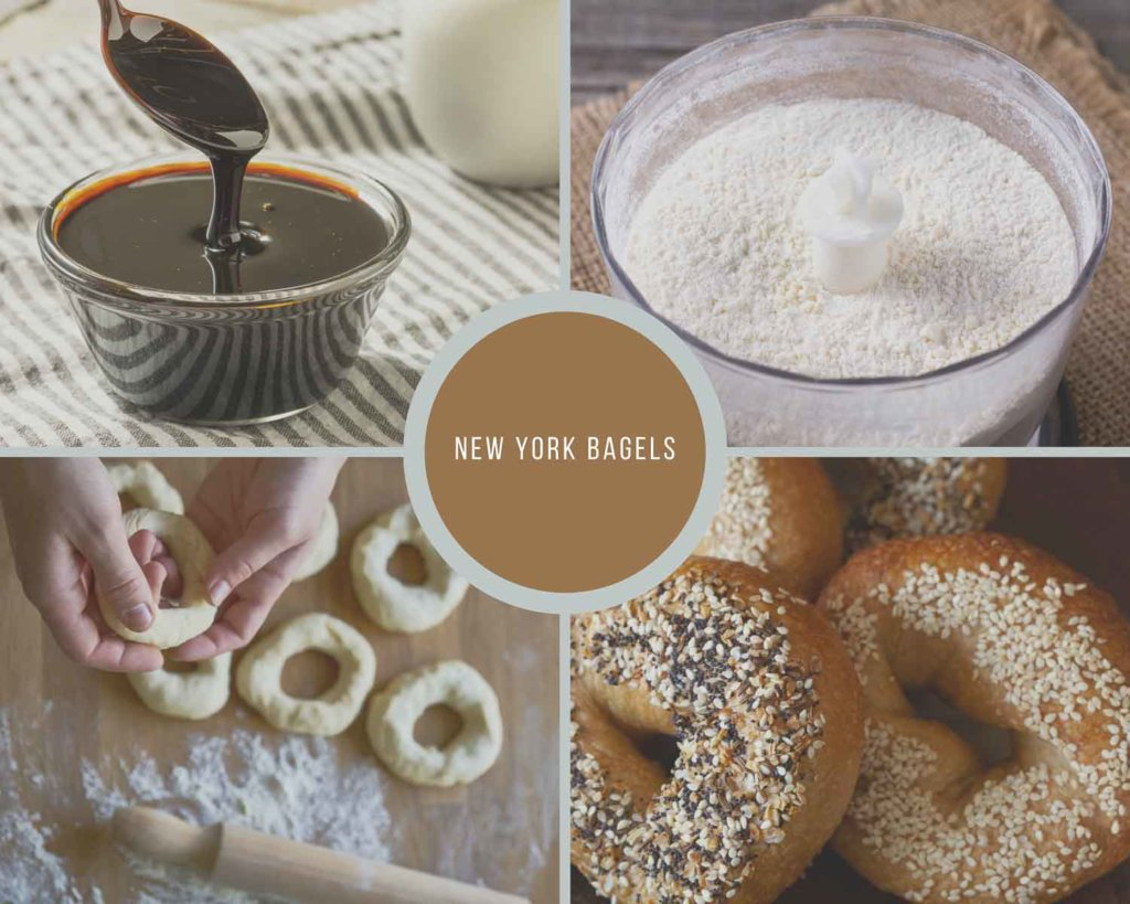 New York Bagels Process Collage How to Make NY Bagel Recipe