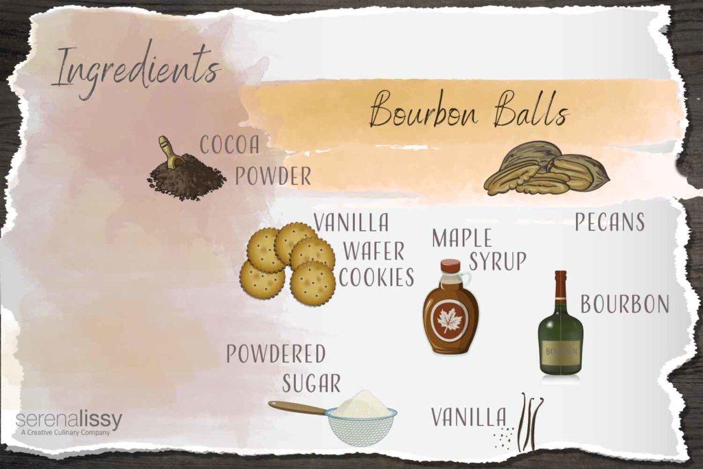 Bourbon Balls Ingredients