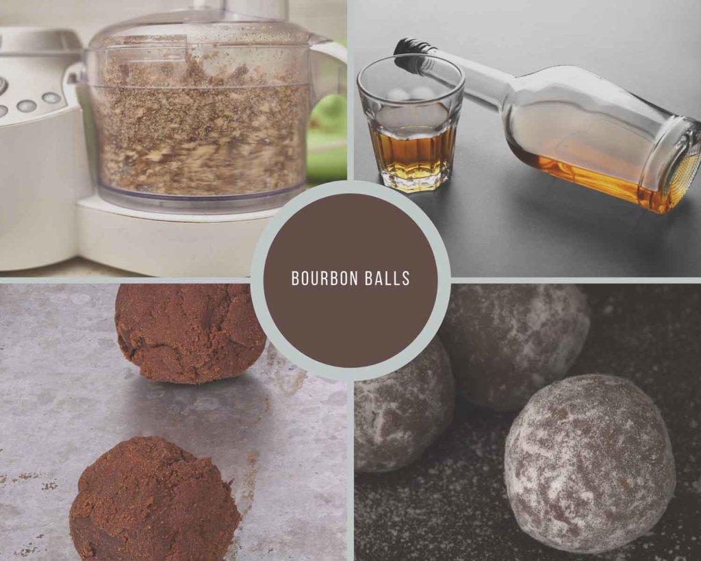 Bourbon Balls Process Collage