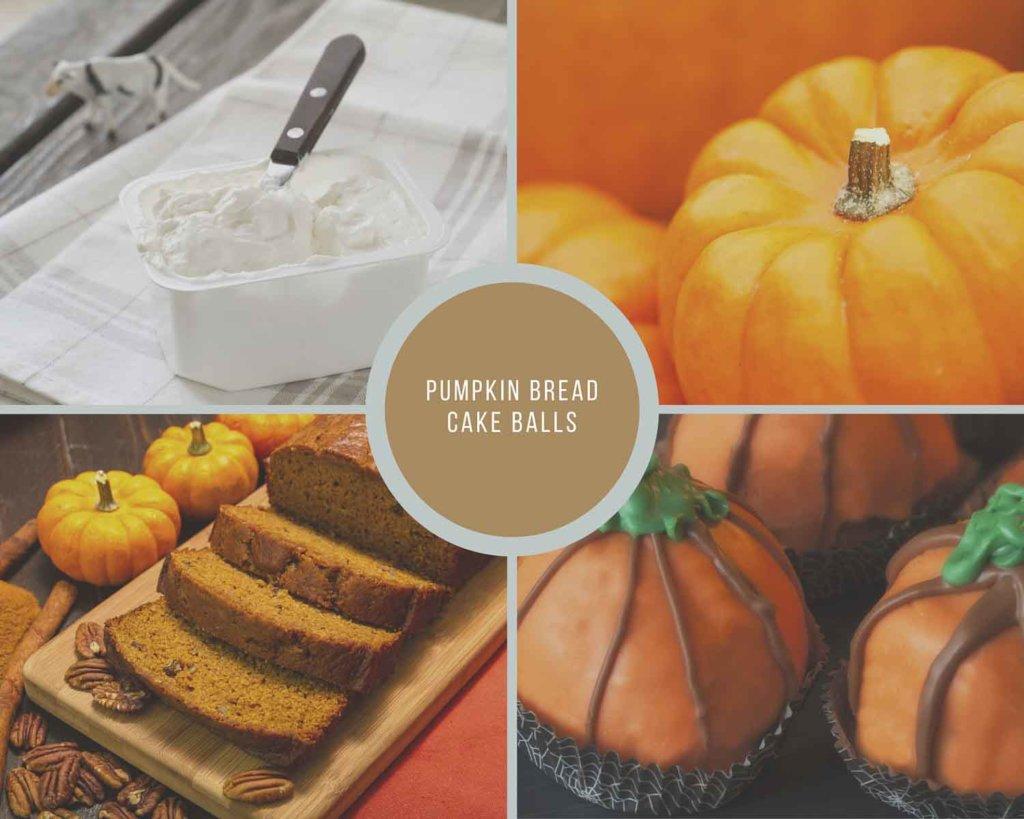 Pumpkin Bread Cake Balls Process Collage