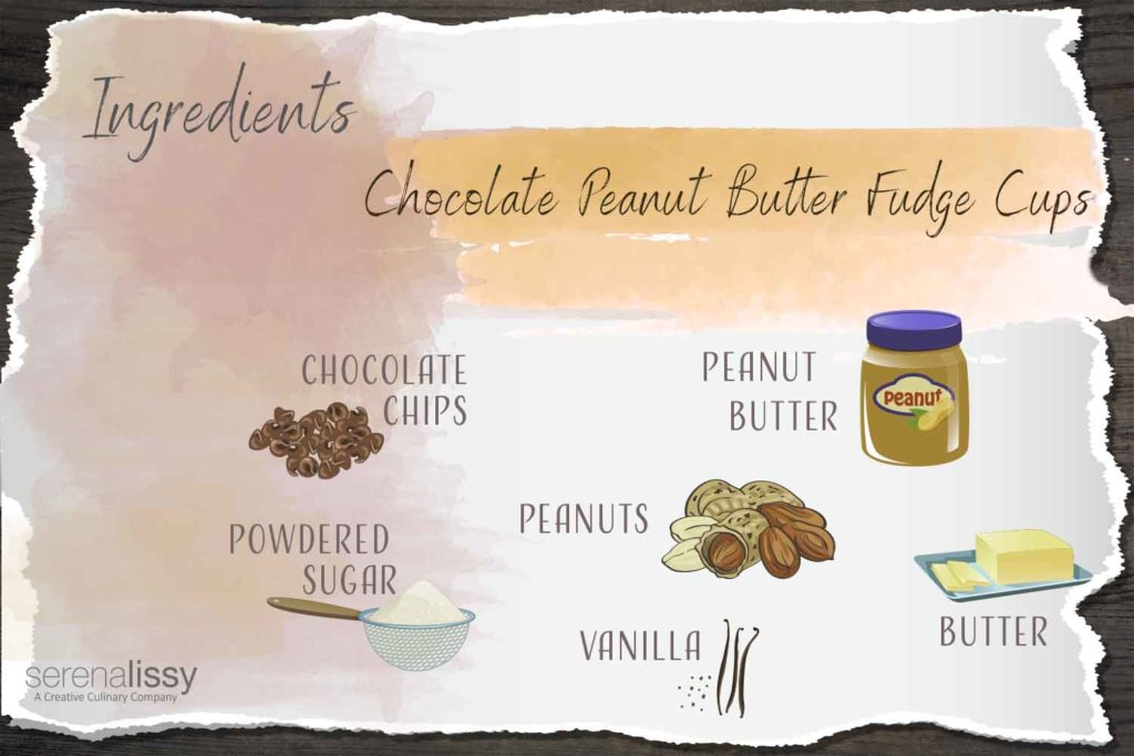 Chocolate Peanut Butter Fudge Cups Ingredients
