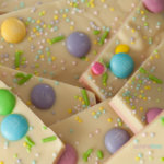 Easter Bark in a Pile on a plate