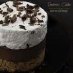 Smores Cake on Plate