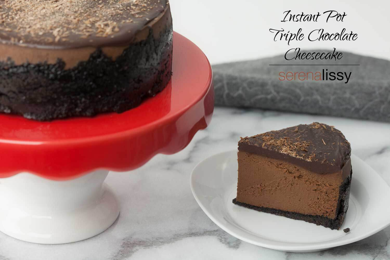 Instant Pot Triple Chocolate Cheesecake