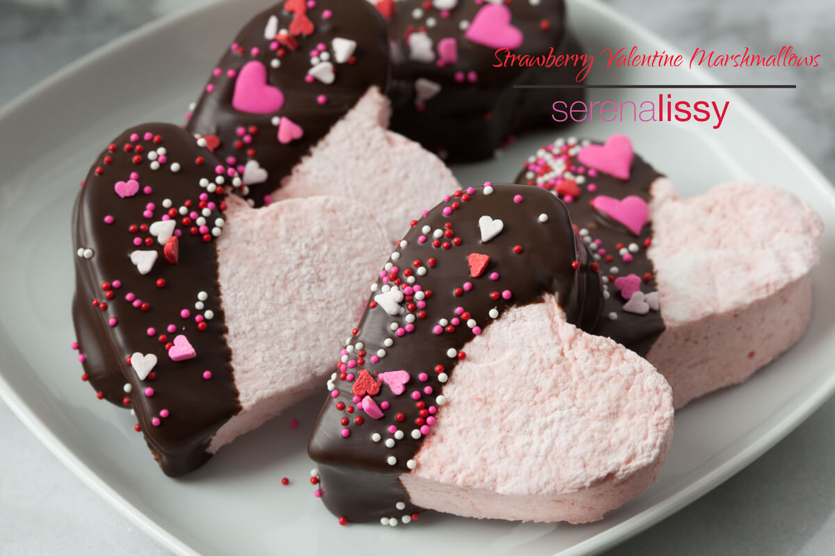 Strawberry Valentine Marshmallows