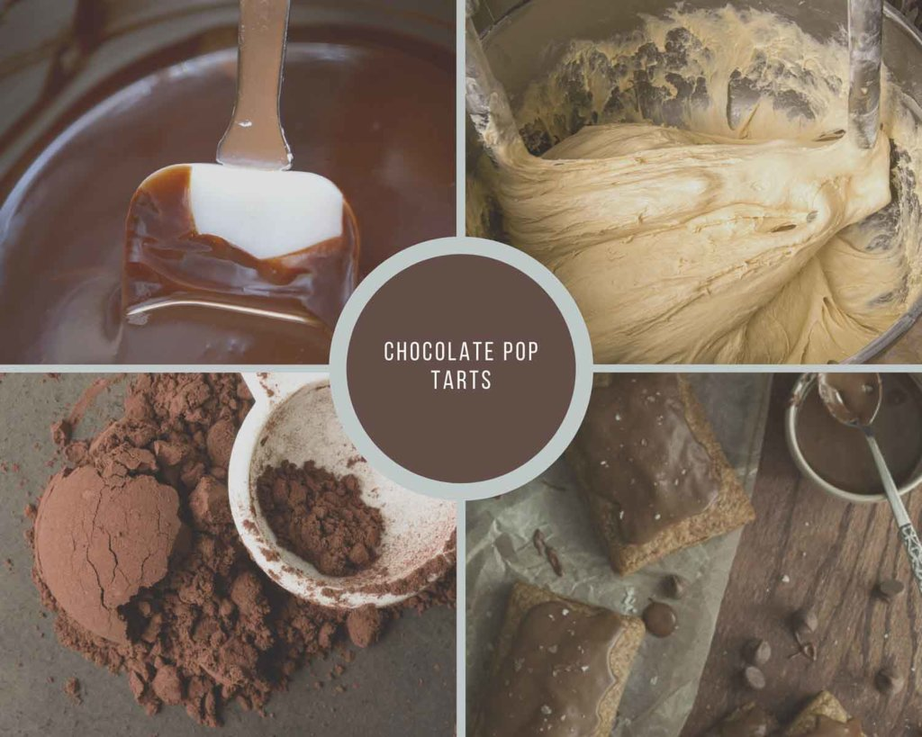 Hoew to Make Chocolate PopTarts Process Collage