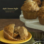 Apple Cinnamon Muffin on Plate