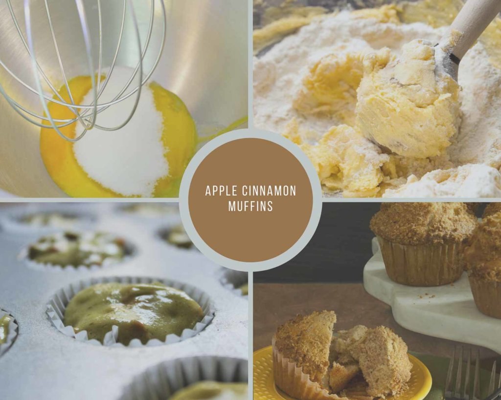 Apple Cinnamon Muffins Process