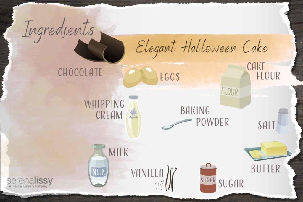 Halloween Cake Ingredients