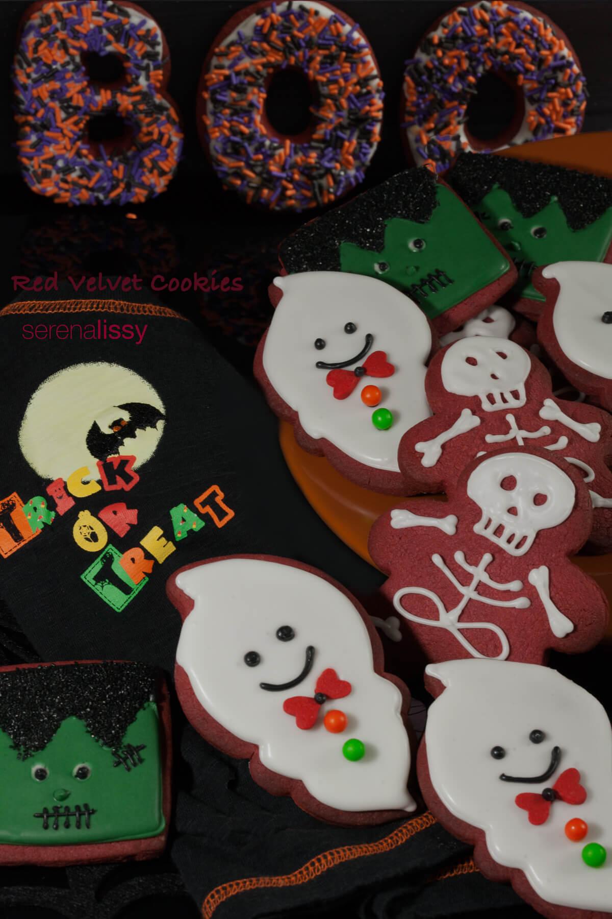 Red Velvet Halloween Cookie