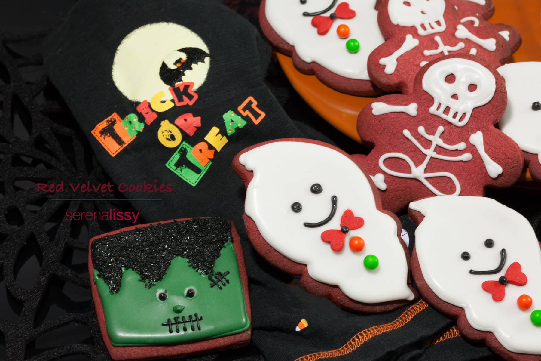 Frosted Halloween Cookies