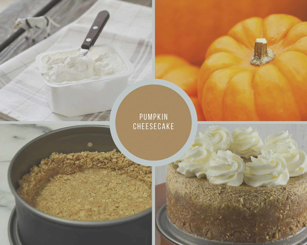 Easy Pumpkin Cheesecake Process Collage for Instant Pot