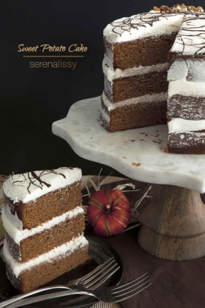 Slice of Sweet Potato Cake