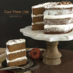 Sweet Potato Cake on Cake Stand