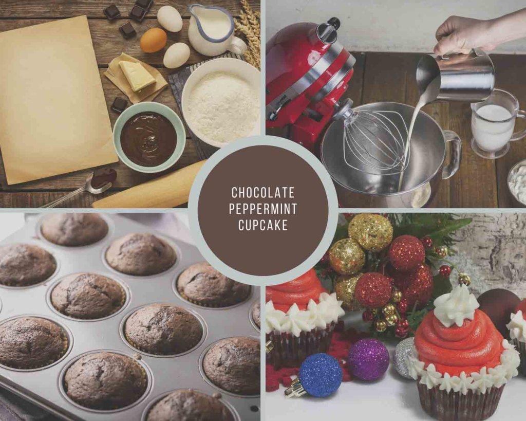 Chocolate Peppermint Cupcake Process How to Make Gourmet Cupcake Recipes