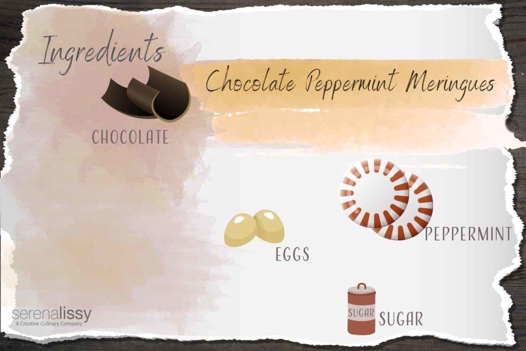 Chocolate Peppermint Meringues Ingredients