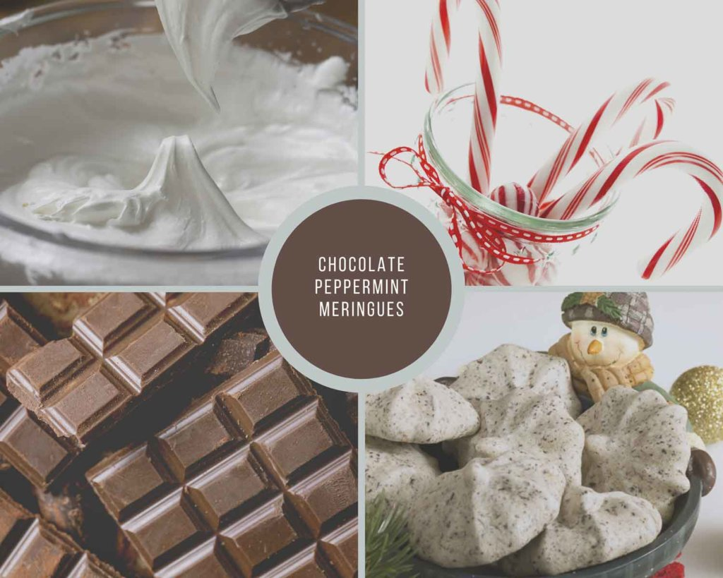 Chocolate Peppermint Meringues Process Collage
