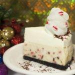 White Chocolate Peppermint Bark Cheesecake