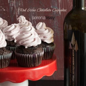 Red Wine Chocolate Cupcakes