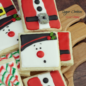 Sugar Cookies decorated for Christmas
