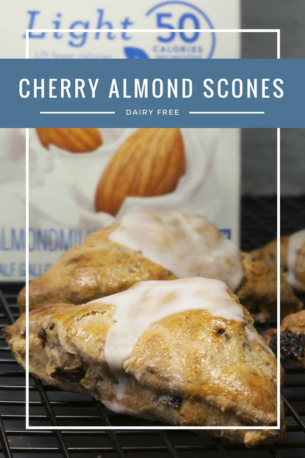 Cherry almond Scones on Plate