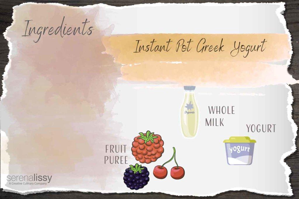 Instant Pot Greek Yogurt Ingredients